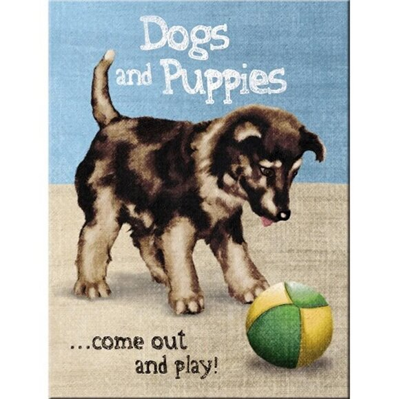 Nostalgic Art Dogs and Puppies Magnet 14316