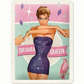 Nostalgic Art - Nostalgic Art Drama Queen Kabartmalı Metal Duvar Panosu