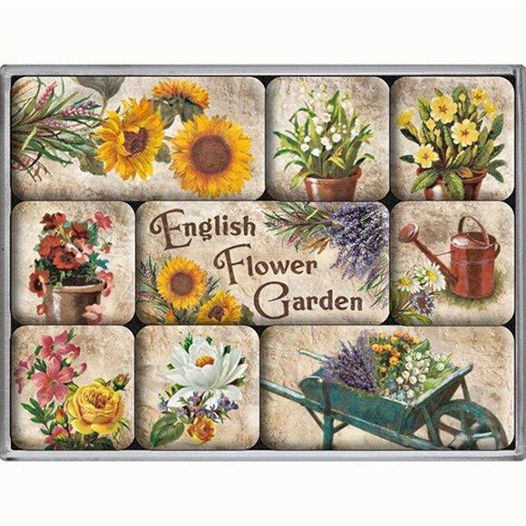 Nostalgic Art English Flower Garden Magnet Set 9 Parça