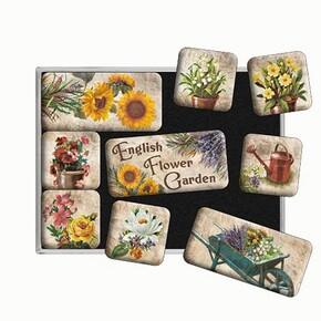 Nostalgic Art English Flower Garden Magnet Set 9 Parça - Thumbnail