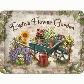 Nostalgic Art - Nostalgic Art English Flower Garden Kabartmalı Metal Duvar Panosu