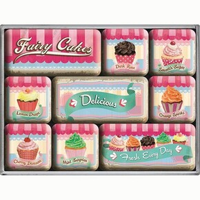 Nostalgic Art - Nostalgic Art Fairy Cakes Delicious Magnet Set 9 Parça