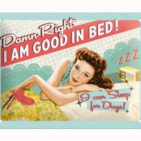Nostalgic Art - Nostalgic Art Good in Bed Kabartmalı Metal Duvar Panosu