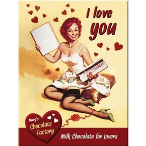 Nostalgic Art - Nostalgic Art I Love You Chocolate Magnet