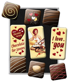 Nostalgic Art I Love You Chocolate Magnet Set 9 Parça - Thumbnail