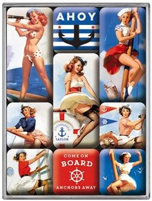 Nostalgic Art - Nostalgic Art Pin Up Ahoy Magnet Set 9 Parça