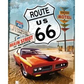 Nostalgic Art - Nostalgic Art Route Metal Pano 30 x 40 cm