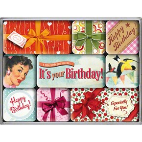 Nostalgic Art - Nostalgic Art Say It Happy Birthday Magnet Set 9 Parça