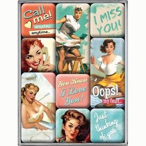 Nostalgic Art - Nostalgic Art Say It Nice Slogans Magnet Set 9 Parça