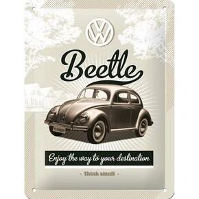 Nostalgic Art - Nostalgic Art VW Retro Beetle Kabartmalı Metal Duvar Panosu
