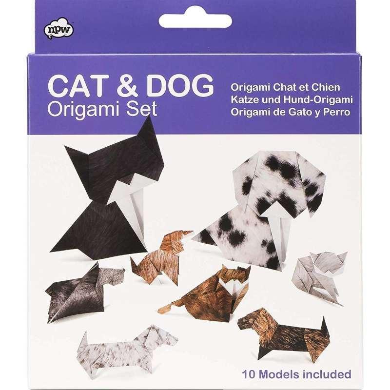 ORİGAMİ CAT & DOG Kedi ve Köpek Origami Seti