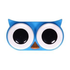 Kikkerland - Kikkerland OWL CONTACT LENS CASE Baykuş Lens Kabı Mavi
