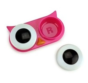 Kikkerland - Kikkerland OWL CONTACT LENS CASE Baykuş Lens Kabı Pembe