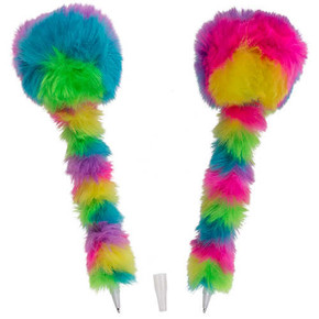 Out of The Blue - PLUSH PEN RAINBOW Pom Pom Gökkuşağı Peluş Kalem