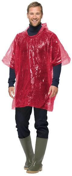 PONCH-O Pvc Yağmurluk Kırmızı