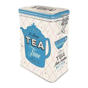Nostalgic Art - Tea Kilitlenebilir Kapaklı Metal Kutu