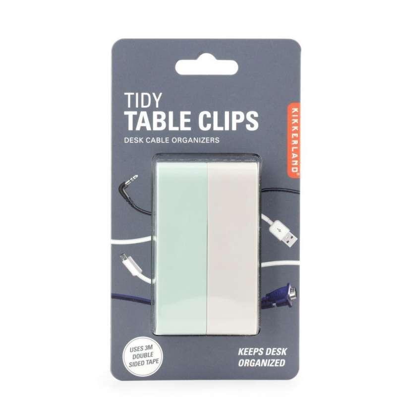 Kikkerland TIDY TABLE CLIPS Kablo Düzenleyici Klips Seti