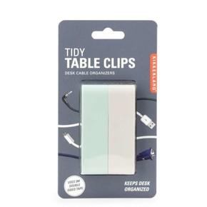 Kikkerland - Kikkerland TIDY TABLE CLIPS Kablo Düzenleyici Klips Seti