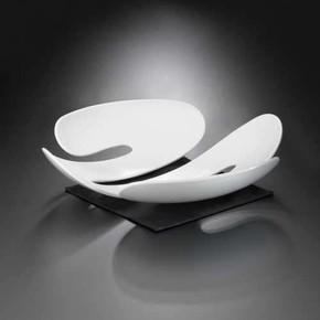 Koziol 3552525 EVE Beyaz Servis Tabağı - Thumbnail