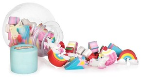 NPW - UNICORN MINI ERASER POT Silgiler Mini Kavanozda 12li Set