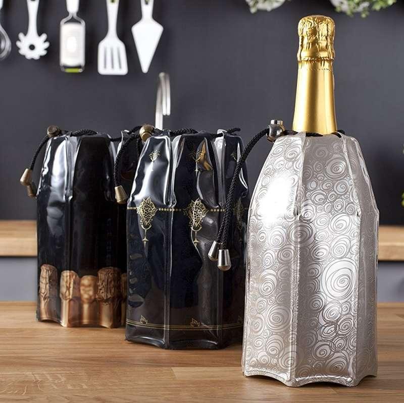 Vacu Vin Şampanya Soğutucu Platin Renkli