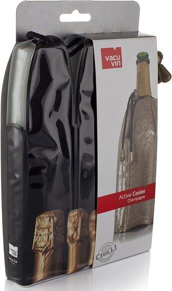 Vacu Vin Şampanya Soğutucu Şampanya Kapağı Desenli