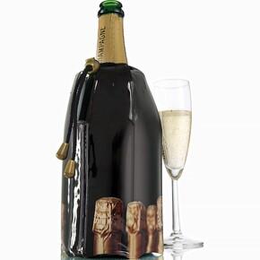 Vacu Vin - Vacu Vin Şampanya Soğutucu Şampanya Kapağı Desenli