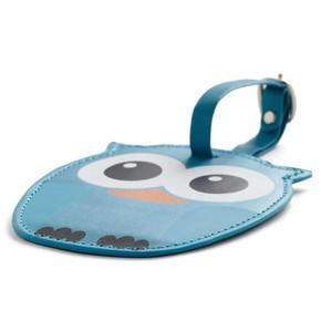 Kikkerland - Kikkerland WHOO OWL Baykuş Valiz Etiketi Mavi