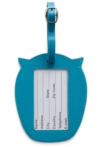 Kikkerland WHOO OWL Baykuş Valiz Etiketi Mavi - Thumbnail