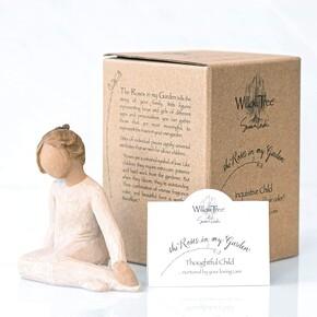 Willow Tree Thoughtful Child - Düşünceli Çocuk Biblo - Thumbnail